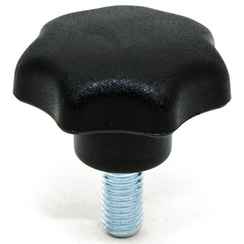 Seven Lob Knob, - External Thread Made From Steel-- M5