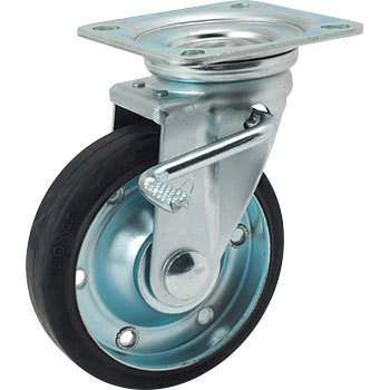 STM Swivel Caster, Rubber Wheels, W Stopper