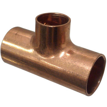 Copper Pipe Tee, Reducing