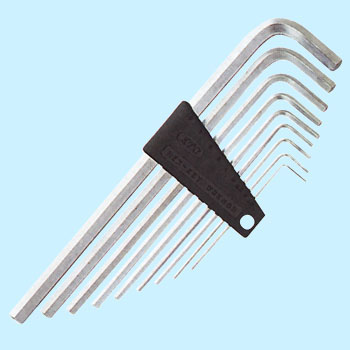 Hex key wrench set, high-grade long type