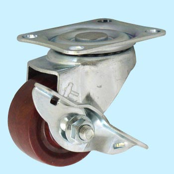 Hammer caster 413S - Flexible car (phenol car) with stopper
