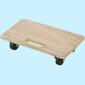 Wood Platform Cart (Rubber Wheels / Without Slip Resistance)