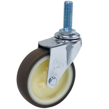 Screw Type 420Ea Swivel Caster, Nylon Wheel Urethane Wrapped Wheel