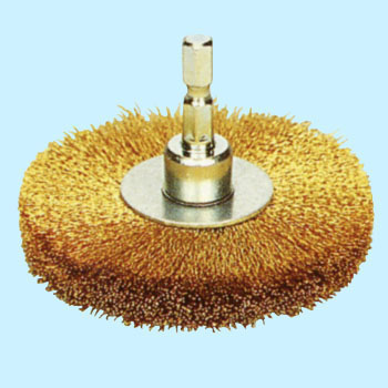 Quick true brass wheel brush