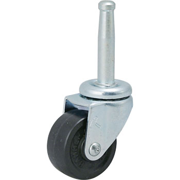 420B Swivel Caster, Rubber One Wheel