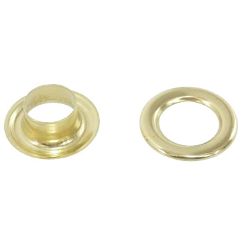 Double-sided eyelet made of brass