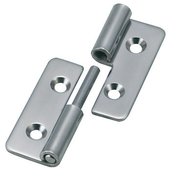 Stainless steel insert or remove hinge