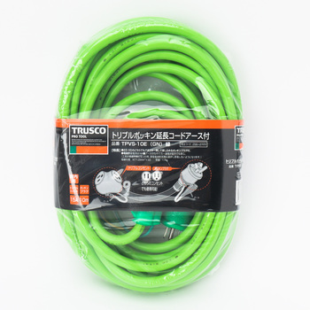 Extension Cord, Triple Pokkin, Grounding