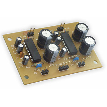 IC stereo amplifier completed substrate