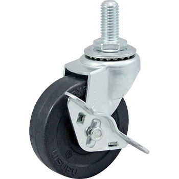 Screw Type Sel Swivel Caster, Rubber Wheel) With A Blade Latch