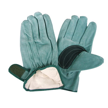 Washable Cattle Split Leather Work Gloves