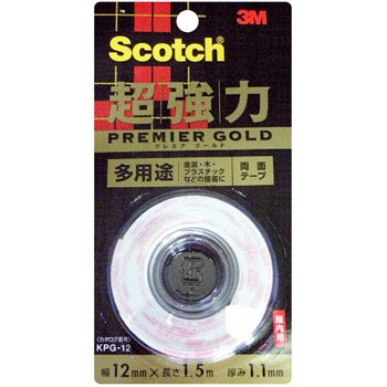 Scotch Super Strong Double-Sided Tape Premier Gold, Versatile,