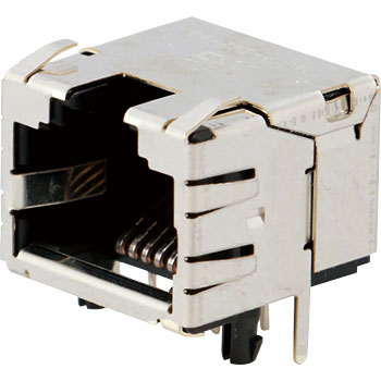 Modular jack connector receptacle for ultra-small LAN