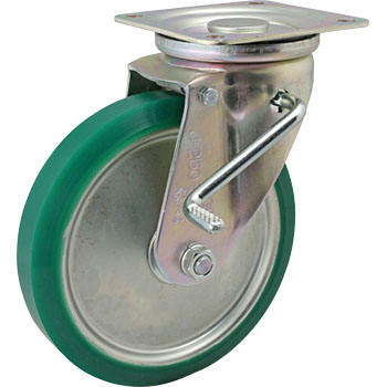Swivel Caster Urethane Wheels, B) With Stopper