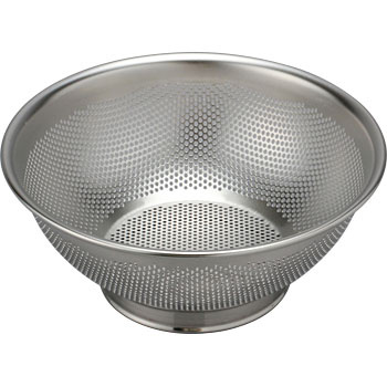 Punching draining colander