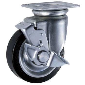 Stopper for Heavy Casters, Rubber Wheels
