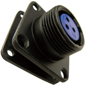 NJW Series Water Proof Medium Size Connector, Panel Attachment Receptacle