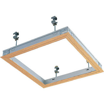 Ceiling access door sealing the hatch frame type woodgrain 606 x 606