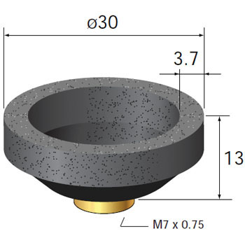 Cup wheels for ultra precision air grinder