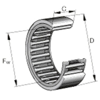 Solid ring needle roller bearings (ribs Mu)