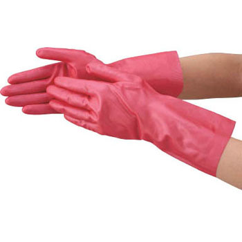 Natural rubber gloves (with back hair)