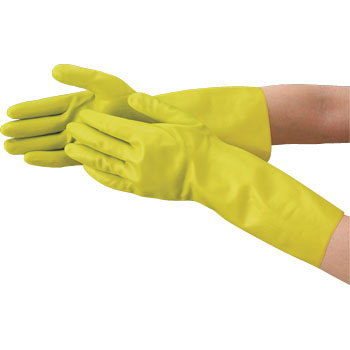 Thick type in natural rubber gloves