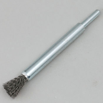 End brush (shaft diameter 6mm , wire steel wire)