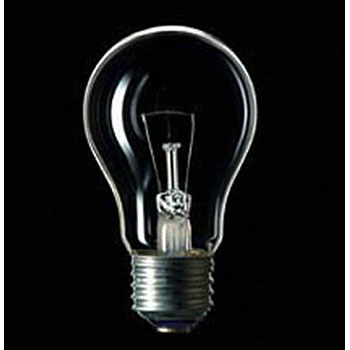 Incandescent light bulb clear