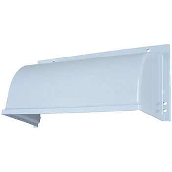 Shallow shaped range hood fan system member / plastic weather cover