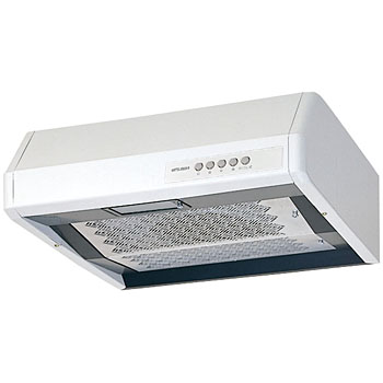 Shallow-shaped range hood fan / high static pressure-round exhaust type