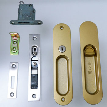 Sliding door lock Atype (cylinder lock) Integral type