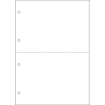 Cut-filled document A4 white paper two-sided four-hole