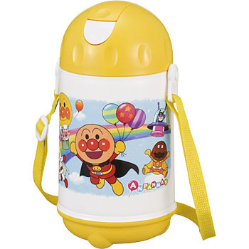 ANPANMAN WATER BOTTLE WITH STRAW (L)
