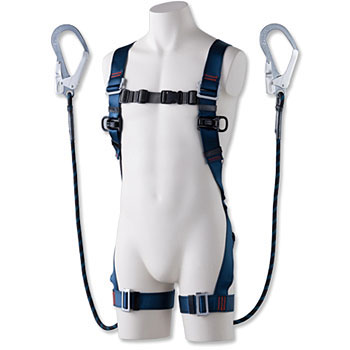 Full harness safety belt blue shadow (with 2-chome hook G blade)