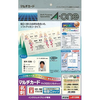 Multi-card ink-jet printer specialty paper business card size especially  thick mouth type