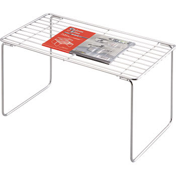 Chrome line stacking shelf