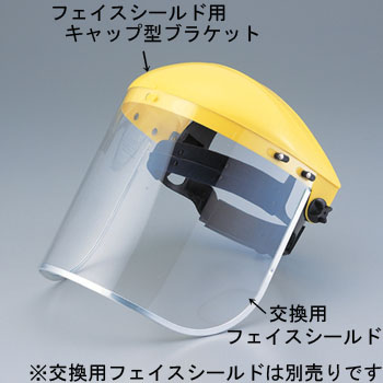 Cap type bracket for face shield