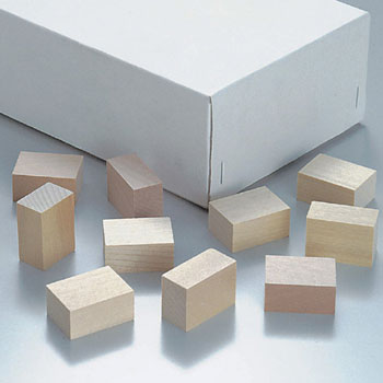 Paraffin wood block