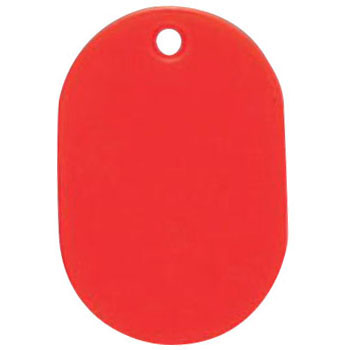 Solid Color Number Tag, 5 Pack