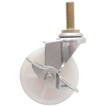 Screw Type Caster, Nylon, Swivel Caster, with Brake
