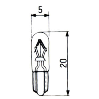 Wedge Base Bulb 14V
