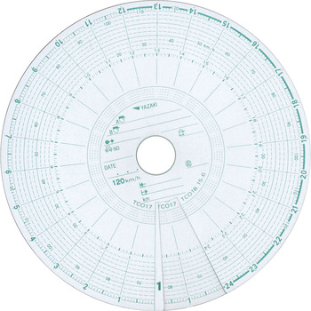 Large Tachograph Chart Paper, Red Box