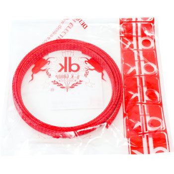 Colour Braided Tube, Red