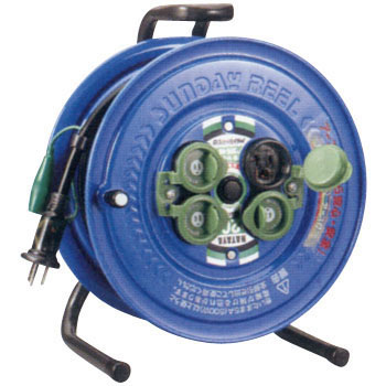 SUNDAY RAINBOW Outlet Cord Reel, Outside, Grounding