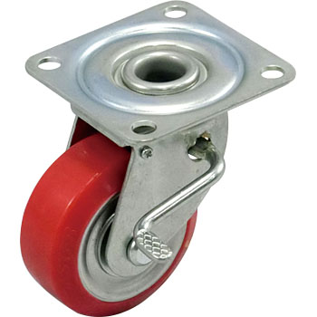 Gold Caster WJ Urethane Wheel B, with W Brake