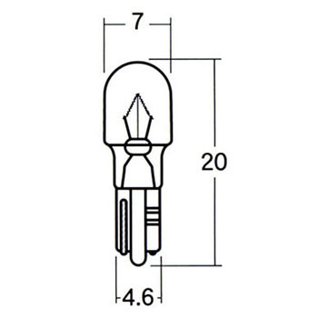 Motorcycle Wedge Bulb