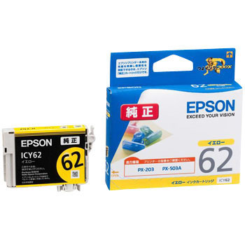 Ink Cartridge EPSON IC62, Genuine EPSON Discontinued product