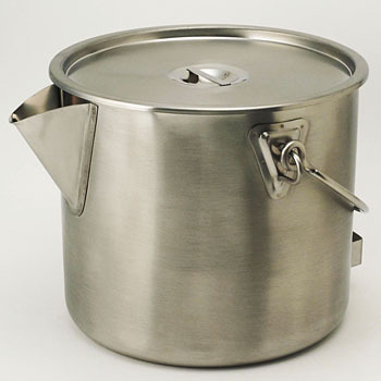18-8 (SUS304) bucket with a pot lid