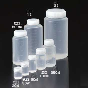 Pp Sampler Bottles Wide Mouth, With A Tick Mark Type