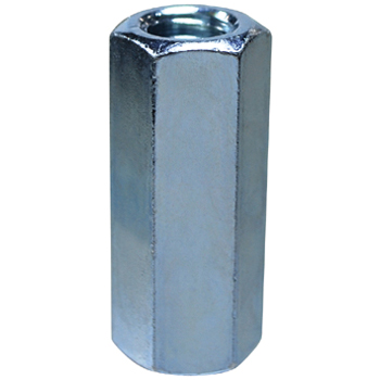 Coupling Nut, Iron/Uni Chromate, Inch Thread
